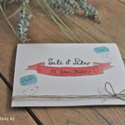 invitación boda rústica