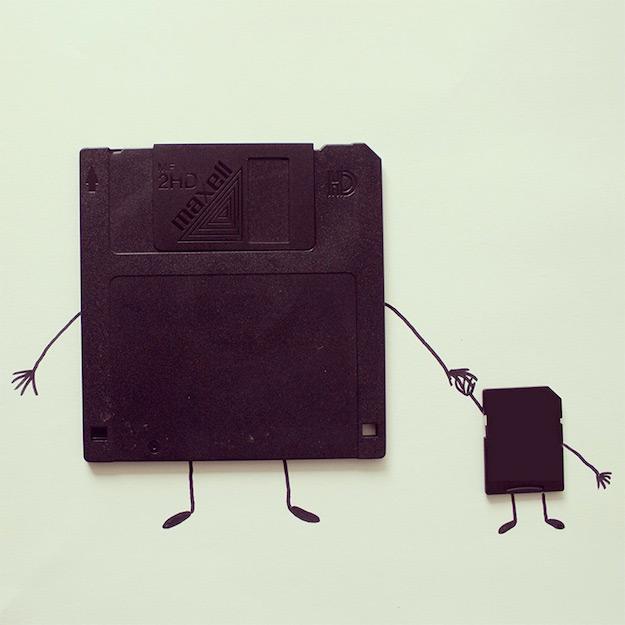 Objetos cotidianos convertidos en ilustraciones por Javier Perez-el tarro de ideas-6