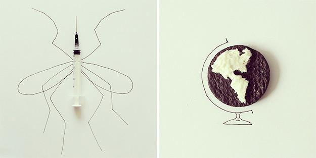 Objetos cotidianos convertidos en ilustraciones por Javier Perez-el tarro de ideas-7
