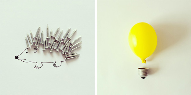 Objetos cotidianos convertidos en ilustraciones por Javier Perez-el tarro de ideas-8