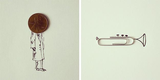 Objetos cotidianos convertidos en ilustraciones por Javier Perez-el tarro de ideas-9