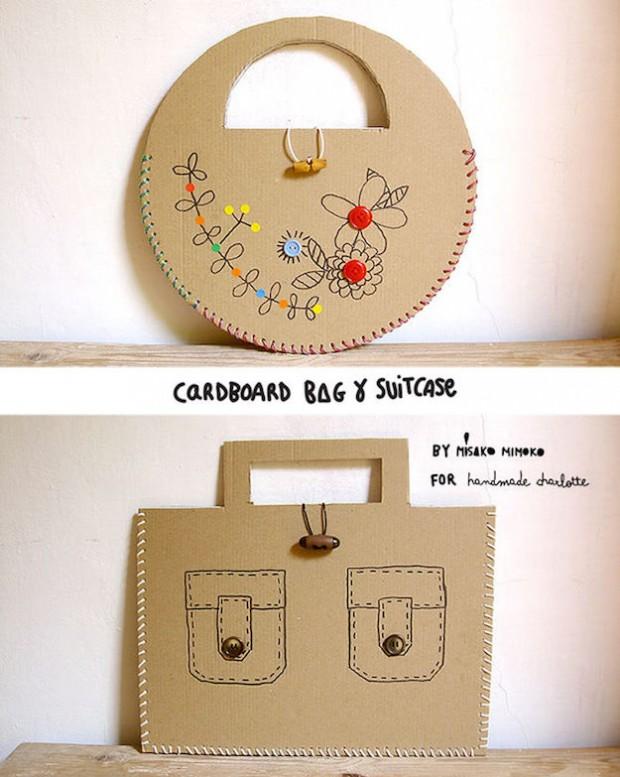 Bolsos de cartón reciclado - El tarro de ideas