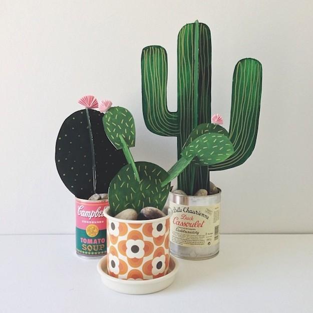 5 cactus DIY-el tarro de ideas