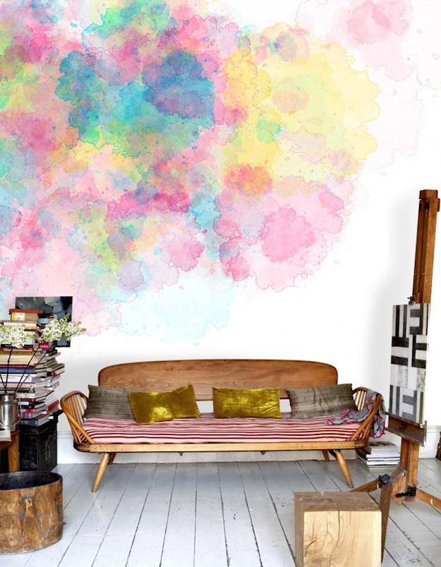 Pintar las paredes con efecto acuarela el tarro de ideas - Pintar paredes con efectos ...