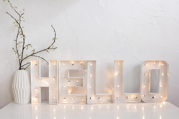Fabricando letras luminosas en casa el tarro de ideas - Casa letras madera ...