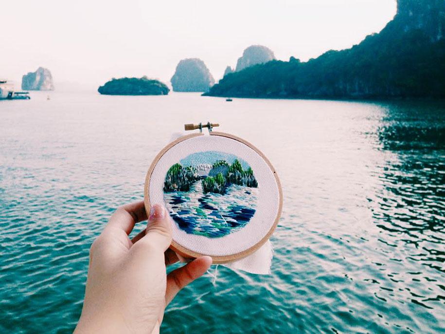 bordados paisajes teeteeheehee
