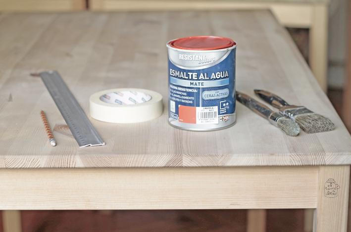 mesa aspas materiales