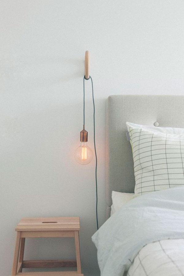 Ideas lamparas minimalistas bombillas colgantes cable sin for Lamparas estilo escandinavo
