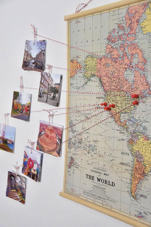 fotos mapamundi mundo mapa decoración pared donde has estado ciudades