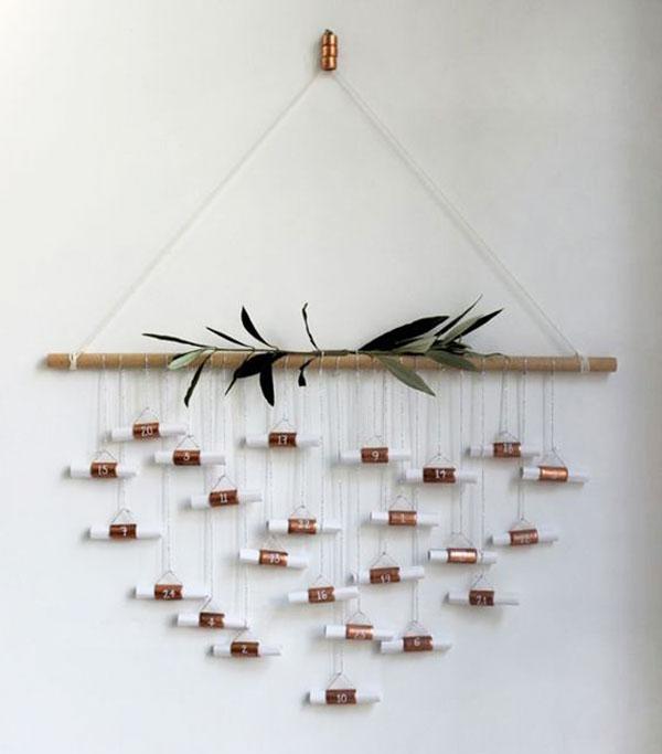 advent christmas calendar decoration copper wall inspiration noel