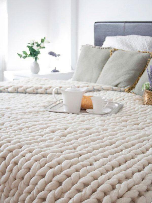 mantas confortables diy fácil tejer principiante deco style estilo inspirational trendy
