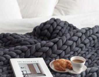 mantas blanket easy fácil tejer knit lana wool