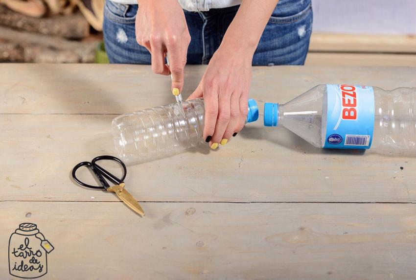 huerto, botella, plastico, recicla, proyecto, diy