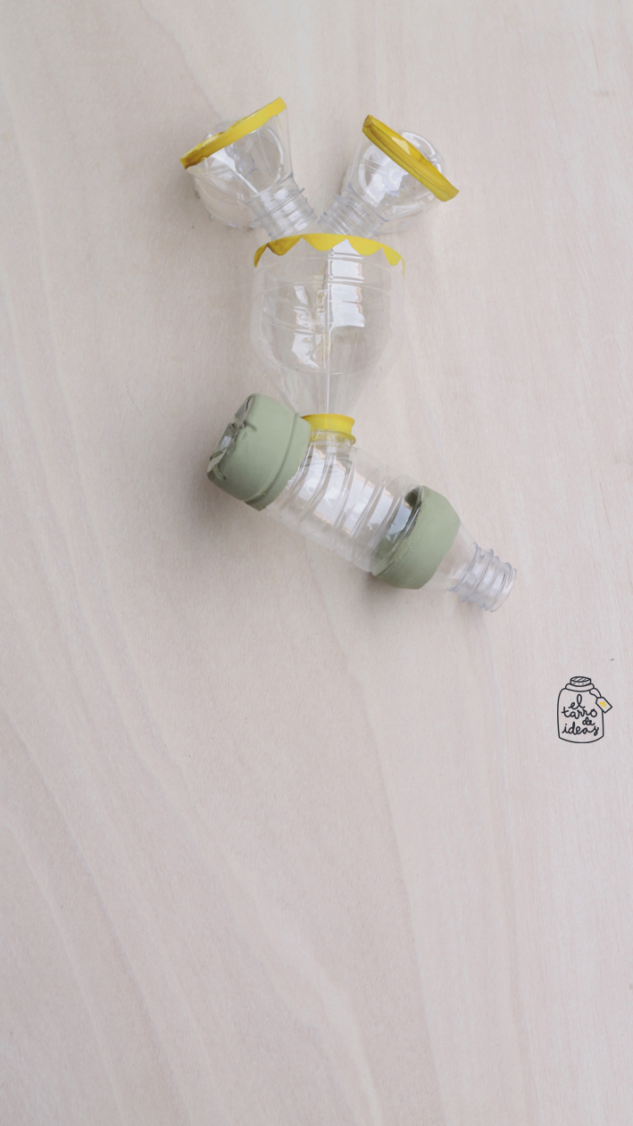 reciclar plastico, juguete, educar, tutorial, ecologia