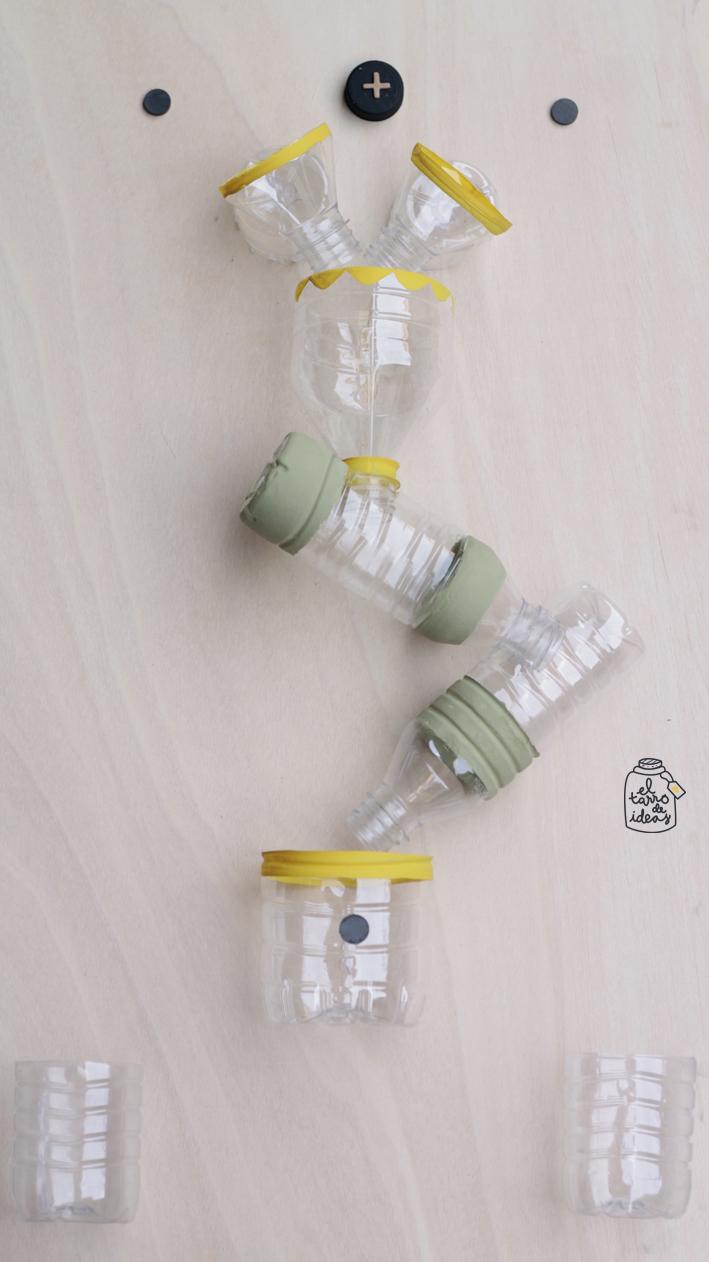 creatividad, creativo, desarrollo, reciclando, botellas, plastico