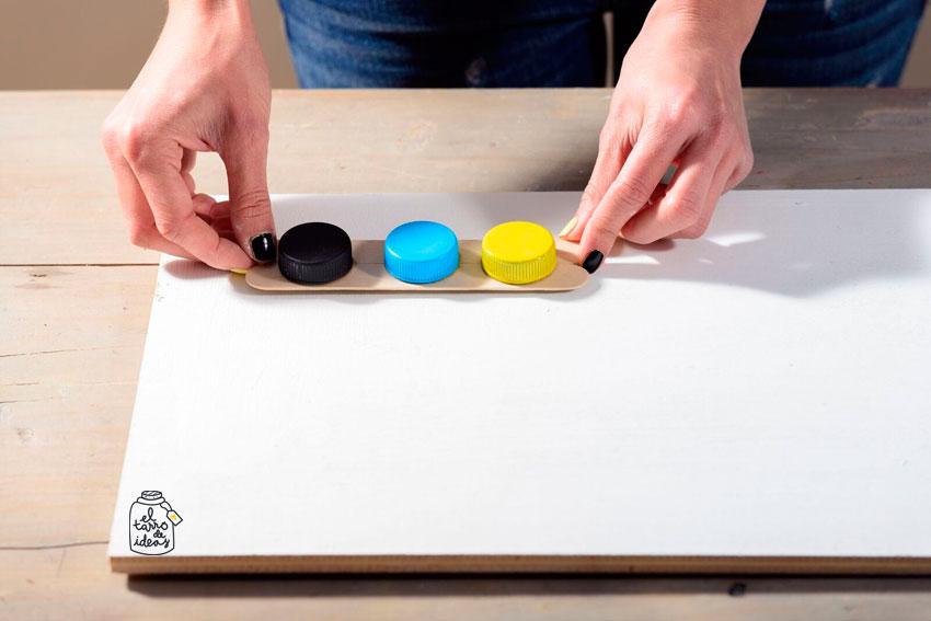 colores, juego de memoria, juego de lógica, niños, vuelta al cole, madera, pintura, palos de helado