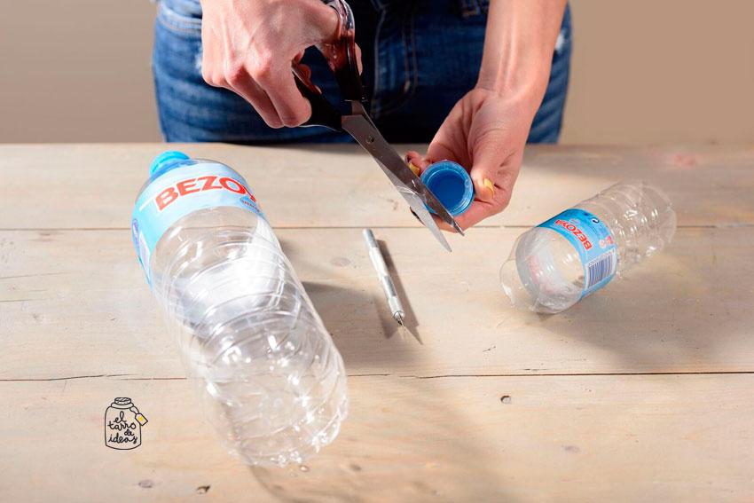 colores, aprendizaje, infantil, motricidad final, educación, reciclar, botellas de plastico