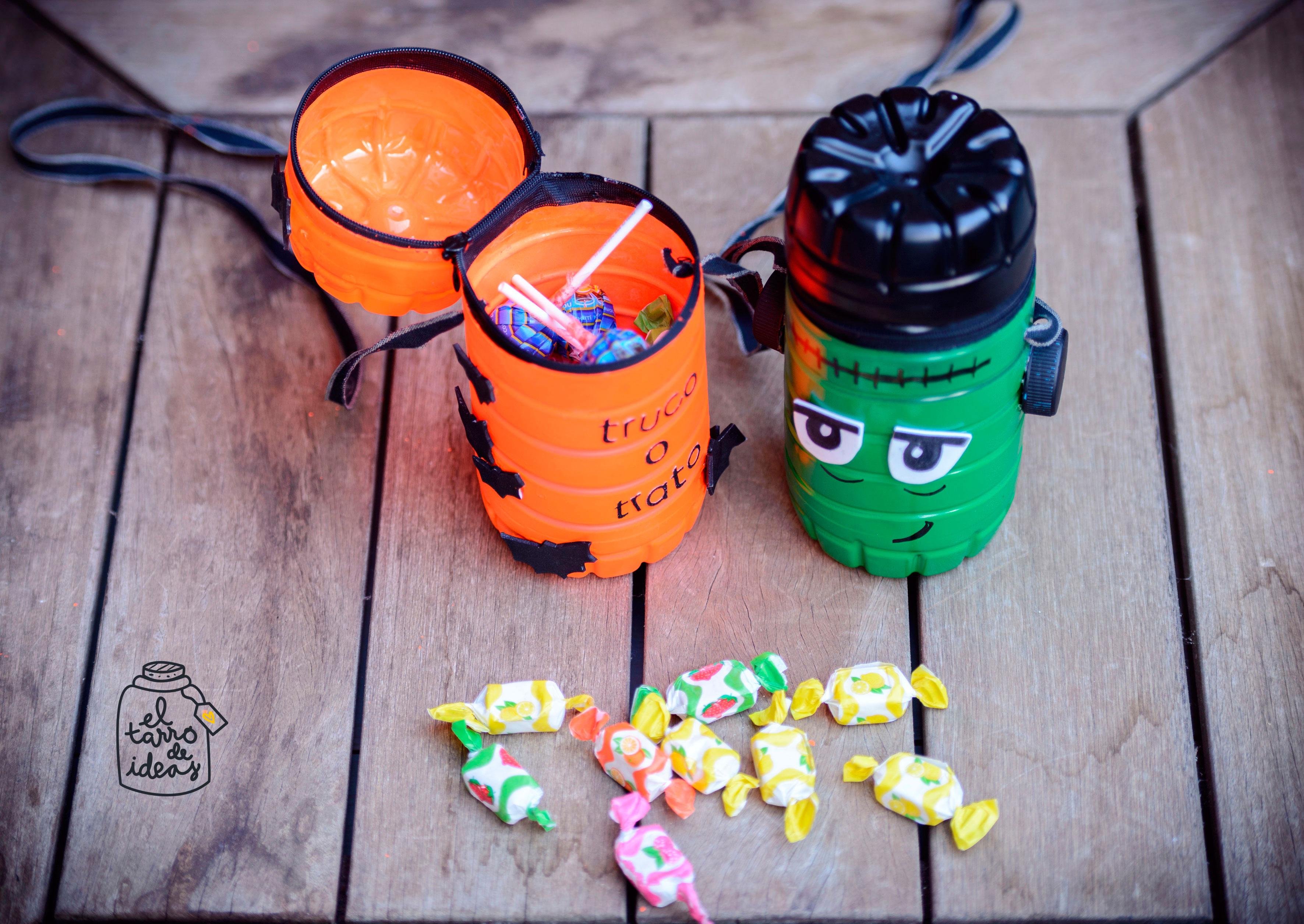 caramelos, caramelaco, monstruos, truco o trato, caramelos, halloween, manualidades, diy, handmade