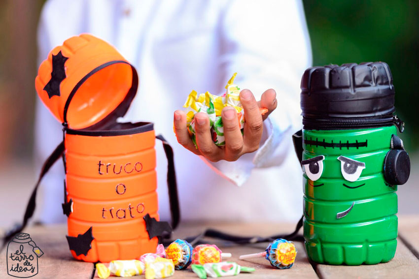 caramelaco, monstruos, truco o trato, caramelos, halloween, manualidades, diy, handmade