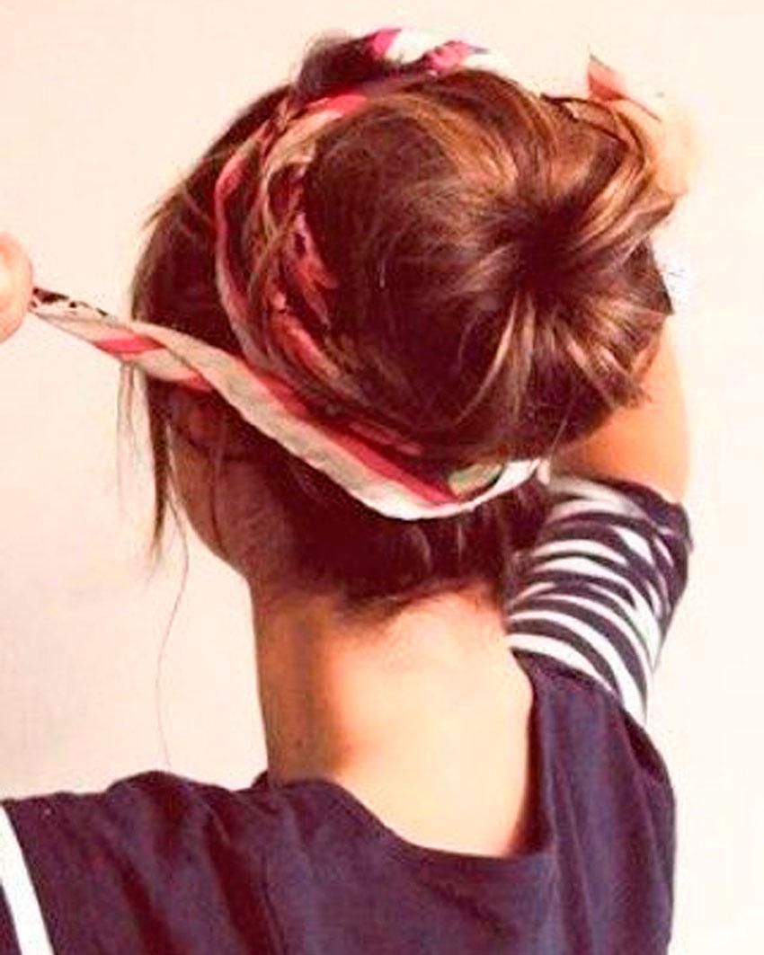 pañuelo, peinados verano, pañoleta, coleta, recogido, moño