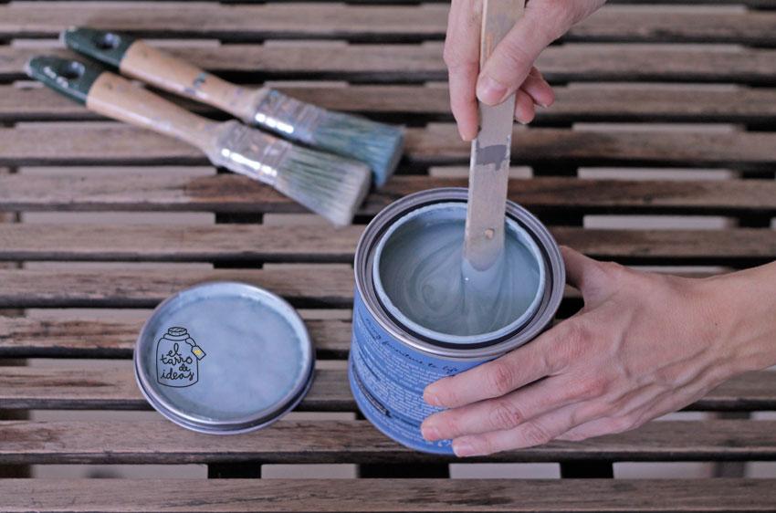 mesa, chalk paint, pintar, restaurar muebles, jardín, pintura tiza, diy, tutorial, hazlo tu mismo, verano, terraza
