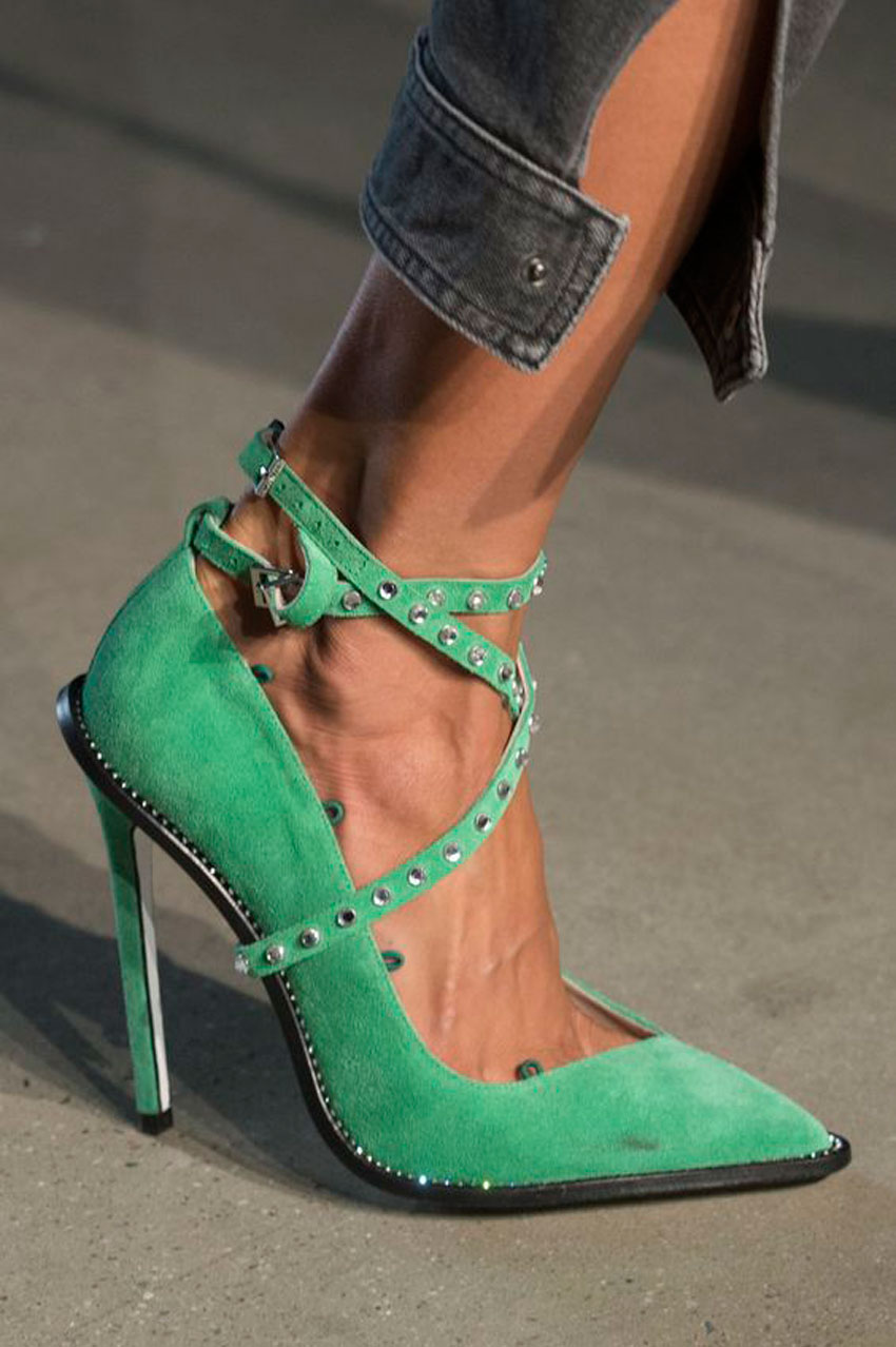 greenery, color, boda, decoracion, zapatos, trendy, style