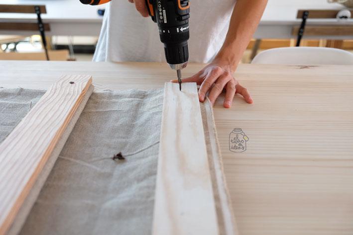 cortina, estor, estilo, rustico, maderas, telas