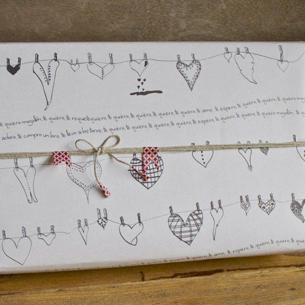 papel-de-regalo-corazones 3