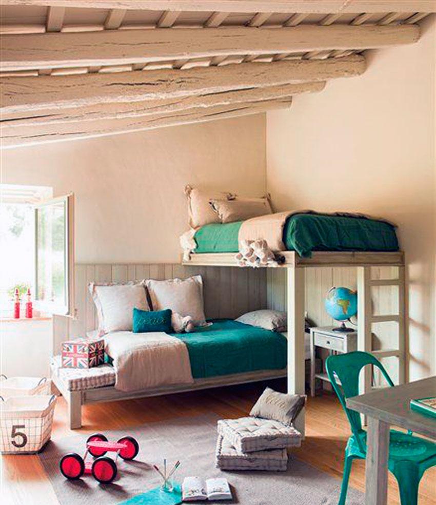habitacion, hogar, niños, infantil, decoracion, camas, beds