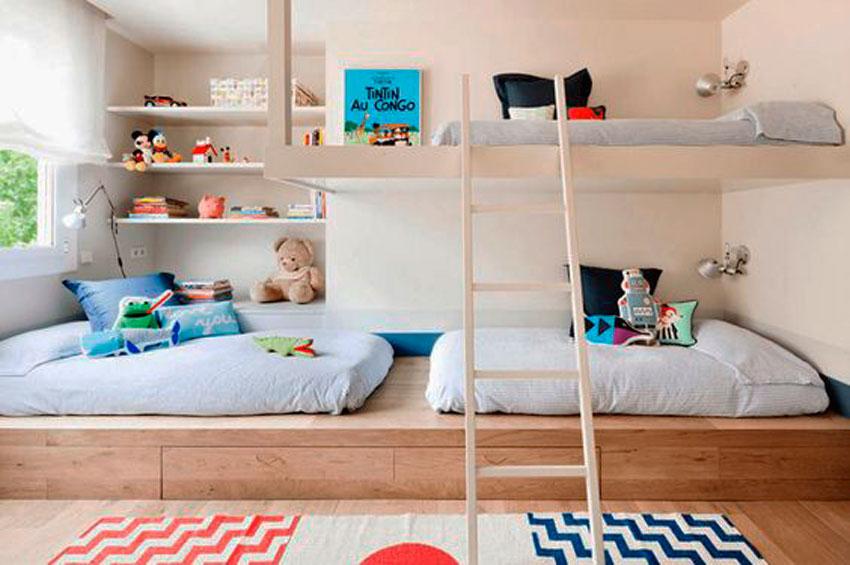 dormitorio infantil, literas, cama niño, habitacion hermanos, inspiracion, decoracion, hogar